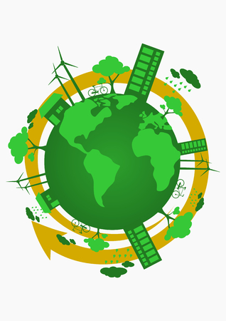 earth day: Earth Day Vector Art Illustration