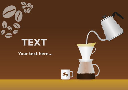 Pour Over Coffee Background