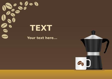 demitasse: Mokapot Coffee Background