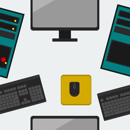 casing: Computer Seamless Pattern Illustration