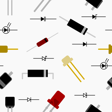 light emitting diode: Diode Seamless Pattern