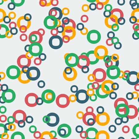 circles pattern: Abstract Circles Seamless Pattern