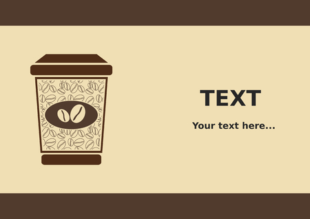 paper background: Paper Cup Coffee Background