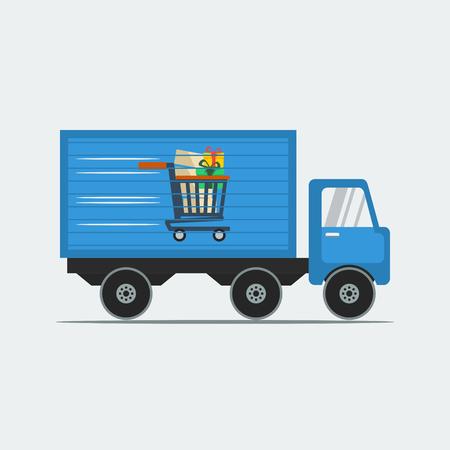 El envío de camiones para la tienda online