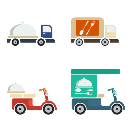 iconic: Delivery Food | Editable iconic illustrations, isolated on white background.