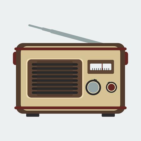 shortwave: Old Classic Radio | Editable retro vintage vector illustration in flat style Illustration