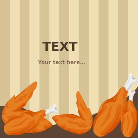 튀긴 닭고기 배경 | 텍스트 배경 편집 가능한 그림