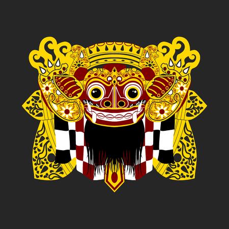 Balinese Barong | Editable vector illustration