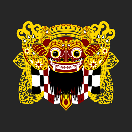 Balinese Barong | Editable vector illustration