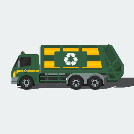 janitorial: Garbage Truck | Editable vector illustration