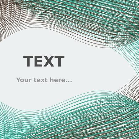 Editable Abstract Lines for Text Background Ilustração