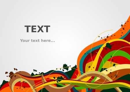 Editable Abstract Colorful Vector for Text Background