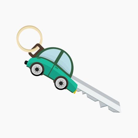 Editable Car Key Vector Illustration.