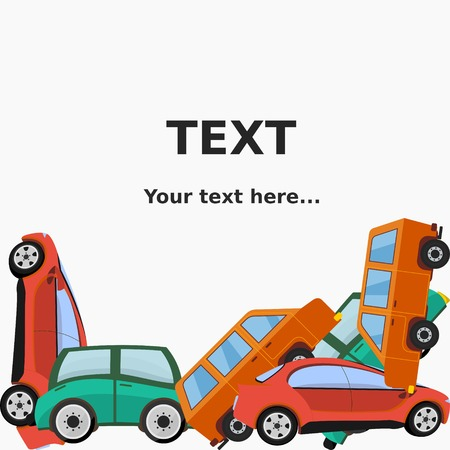 mounds: Editable Cars Vector Illustration for Text Background Illustration