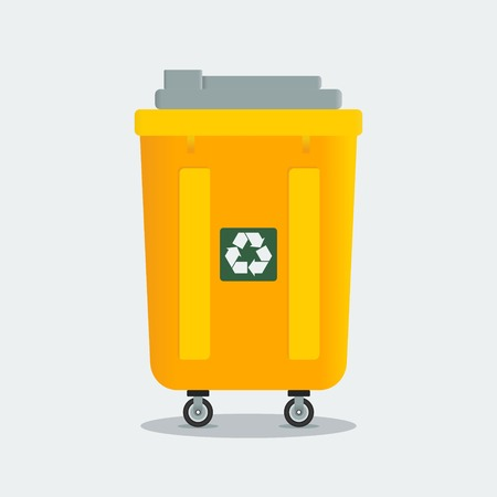 refuse: Editable Trash Bin Vector Illustration