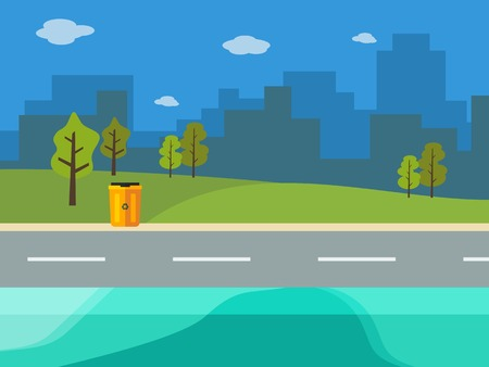 rural road: Editable Clean City Vector Illustration in Flat Style Illustration