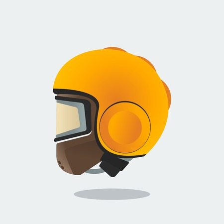 Editable Side View Helmet Vector Illustration Banco de Imagens - 83875248