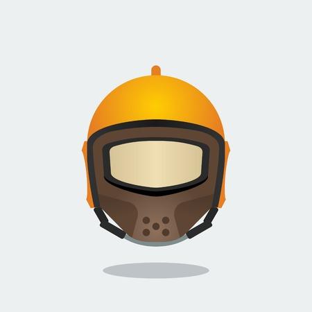 Editable Front View Helmet Vector Illustration Banco de Imagens - 84350251