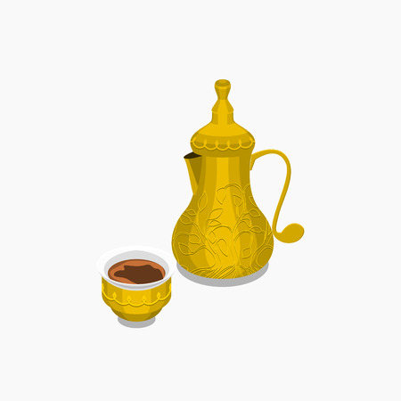 Arabian Coffee Pot and Cup