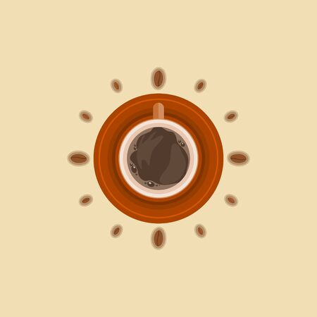 Editable Vector Illustration of Coffee and Beans as Watch Symbol
