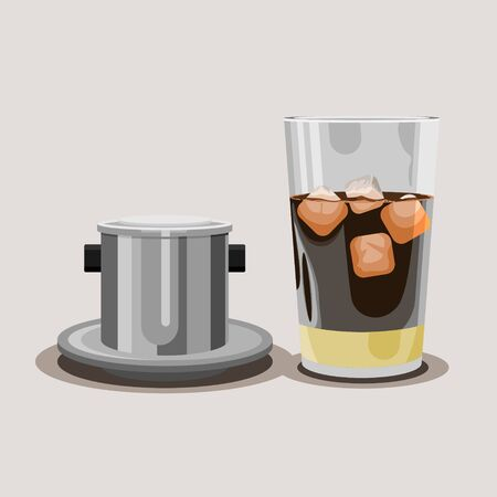 Editable Vietnamese Iced Coffee Vector Illustration Иллюстрация