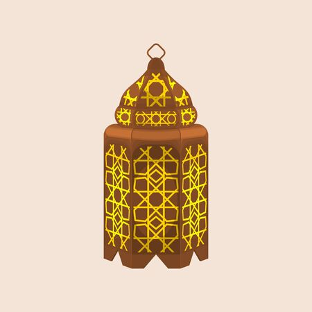 Editable Isolated Standing Ramadan Arabian Lamp Vector Illustration 向量圖像