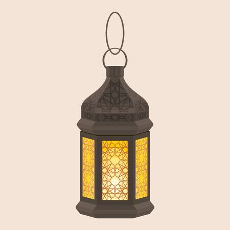 Editable Isolated Hanging Arabian Ramadan Lamp Vector Illustration 向量圖像