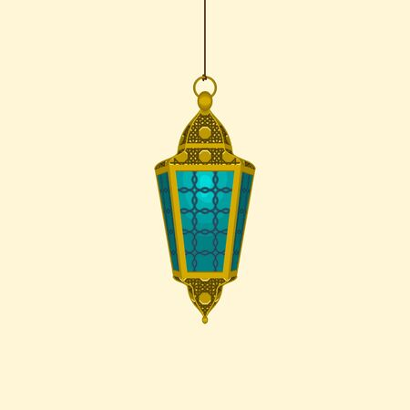 Editable Isolated Hanging Ramadan Arabian Lamp Vector Illustration 向量圖像