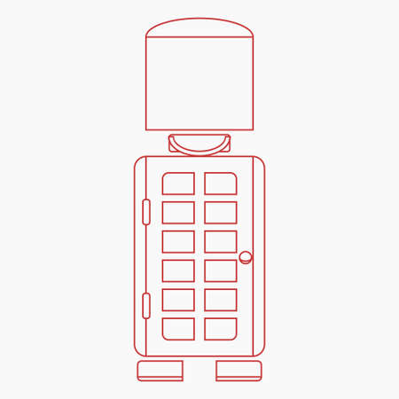 Editable Combination of Front View Typical English Royal Guard and Telephone Booth as Iconic Vector Illustration in Outline Style for England Culture Tradition and History Related Design