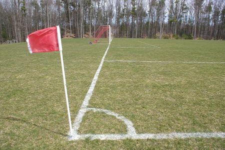 Soccer End Line 版權商用圖片