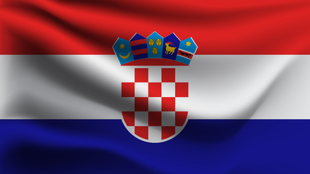 Flag of Croatia Illustration