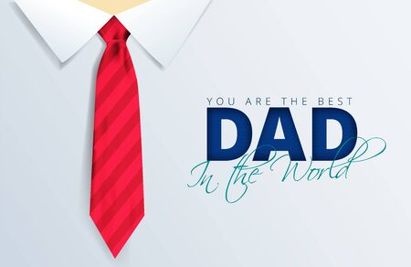 Happy Fathers Day Calligraphy greeting card. Vector illustration.