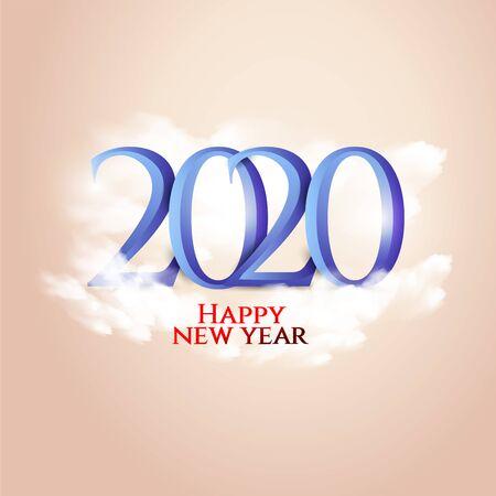 Happy New Year 2020 Design, Vector illustration.