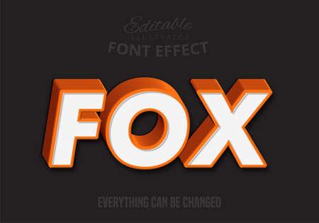 Fox text, editable text style
