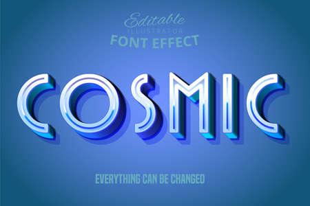 Cosmic text, 3d editable font effect Vecteurs