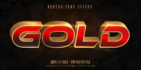 Shiny gold style text effect Vecteurs