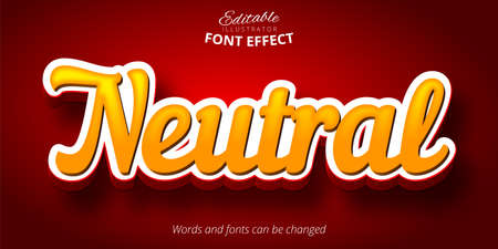Neutral text, 3d editable font effect  イラスト・ベクター素材