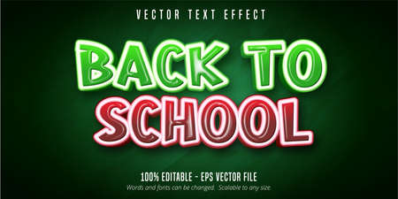Back to school text, education style editable text effect