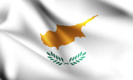 Cyprus flag blowing in the wind. part of a series. Cyprus waving flag.
