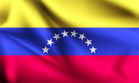 Venezuela flag blowing in the wind. part of a series. Venezuela waving flag.