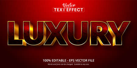 Luxury text, shiny gold style editable text effect