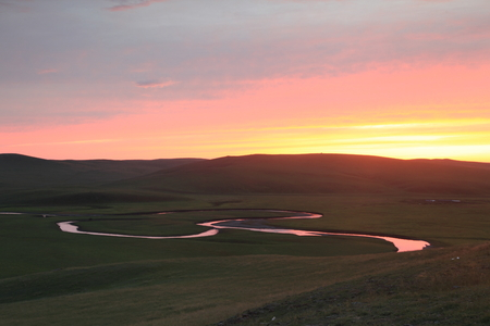 mimo: Mo Spengler r�o puesta de sol
