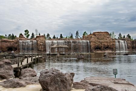 Sun Island waterfall Фото со стока