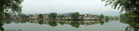 South Lake of Hongcun 版權商用圖片