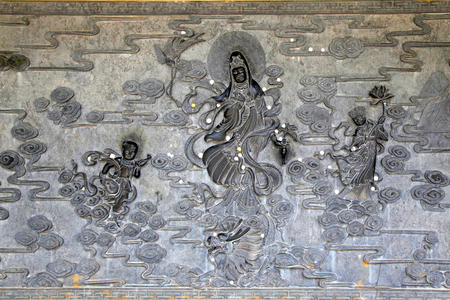 Guanyin carved wall