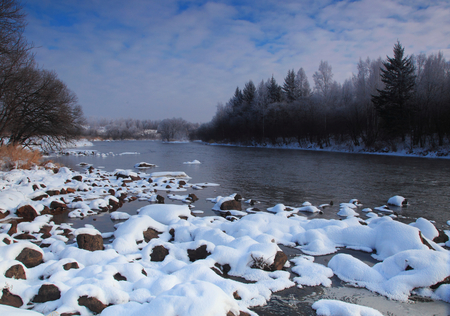 Winter scene Banco de Imagens