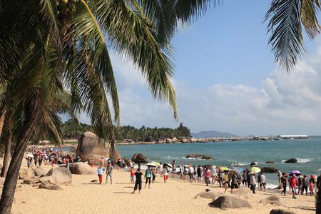 Sanya beach landscape scenery view Editorial