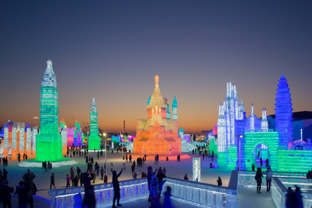 China's 20th Harbin Ice and Snow World 新聞圖片