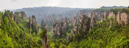 Zhangjiajie scenery Stok Fotoğraf