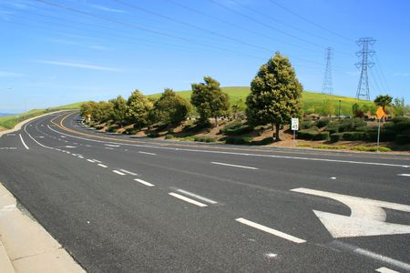 Long infinite road on a sunny day.  Stock Photo - 2745037